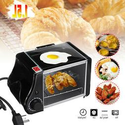 1.5L Mini Toaster Bread Electric Oven Baking Frying Pan Eggs