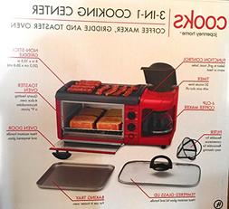 3 In 1 Breakfast Station Toaster Oven Griddle Coffee Maker R