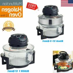 1200W 17 Quart Wave Oven Halogen Convection Cooker Air Toast