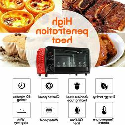12L Oven Electric Toaster Bake Broil Oven Stainless Steel Ki