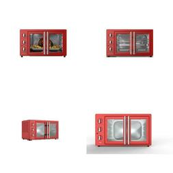 1800 W 6-Slice Retro Toaster Oven In Hot Rod Red With Air Fr