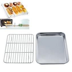 1PC Toaster Oven Tray and Cooling Rack Set Stainless Steel O