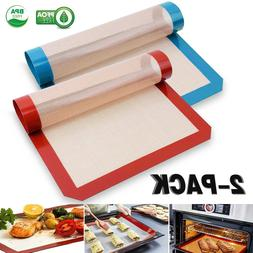 2/4/6/8-Pack Non-Stick Silicone Baking Mat, Toaster Oven Lin