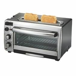 Hamilton Beach 2-in-1 Countertop Oven and 2-Slice Toaster, S