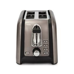 Oster 2-Slice Toaster - Black, Stainless Steel, 750W, Anti-j
