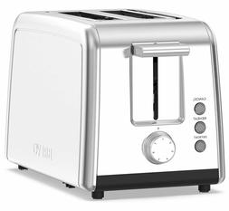 BREVO 2 Slice Toaster Brushed Stainless Steel and 7-Shade Co