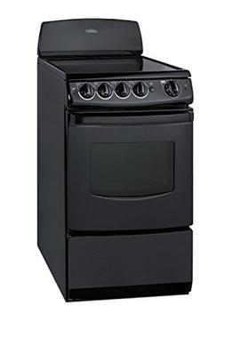 20 Wide Smooth-Top Electric Range In Black with Oven Window