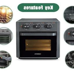 21QT 5In1 Air Fryer Countertop Toaster Oven Broil Bake Funct
