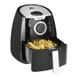 KALORIK 3.2 Qt. Manual Air Fryer in Black/White Toaster Oven