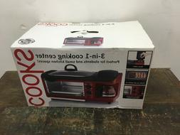 3-in-1 Cooking Center - Toaster Oven, Griddle, 4 cup Coffee