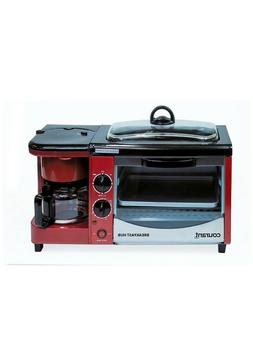 3-in-1 Multifunction Breakfast Hub toaster oven, griddle pan