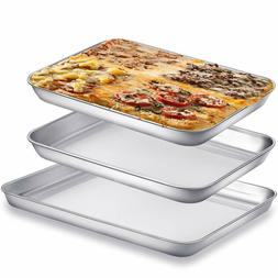 3 Piece/Set, 10 & 9 inch Baking Sheet Pans for Toaster Oven,