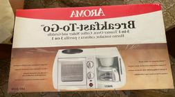 Aroma 3in1 Mini Toaster Oven + Coffee Maker Griddle Machine,