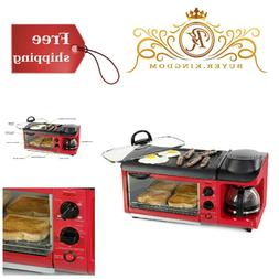 3in1 Multi Function Toaster Griddle Coffee Maker Breakfast S