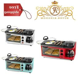 3in1 Versatile Breakfast Station Coffee Maker Griddle Toaste