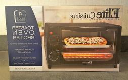 Elite Cuisine 4 Slice Toaster Oven Broiler NIB Model EKA-921