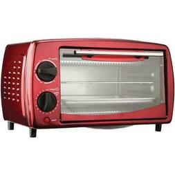 4 SLICE TOASTER OVEN RED