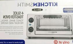 Bella 4 Slice Toaster Oven Small Kitchen Appliance Silver