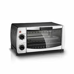 "Mainstays 4-Slice White Toaster Oven Fits 9"" Pizza Bake Broi"