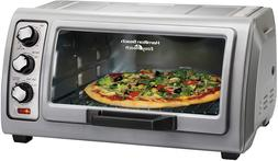 6 Slice Countertop Toaster Oven with Easy Reach Roll-Top Doo