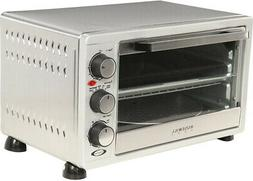 6 Slice Stainless Steel Toaster Oven Broiler Drip Pan Built-