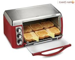 6 Slices Toaster Oven Bake Broil Pizza Oven w/Auto Advance T