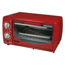 9 liter toaster oven broiler red white