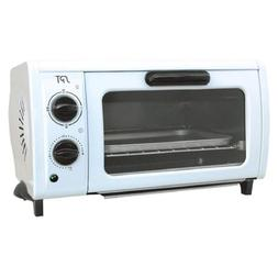 950 W 2-Slice White Toaster Oven with Built-In Timer