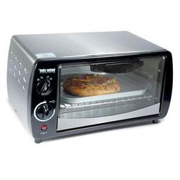 Better Chef - 4-slice Toaster Oven - Silver/black