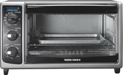 Black & Decker - 6-slice Toaster Oven - Black