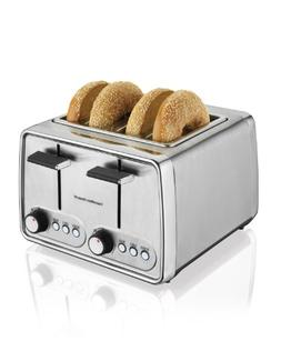 Hamilton Beach - 4-slice Wide-slot Toaster - Modern Chrome