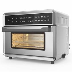 Air Fryer Oven, 1800W Stainless Steel 26.4QT Capacity and Pr