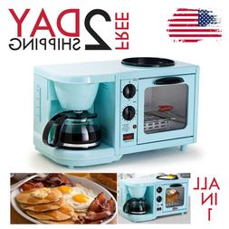 ALL IN 1 BREAKFAST MACHINE MAKER HOME COFFEE +TOASTER OVEN +