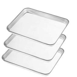 Baking Pans Sheet, 3 Piece Large Cookie Sheets Stainless Ste