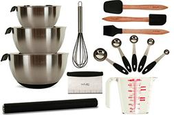 All-in-One 15-Piece Professional Baking Set - Stainless Stee