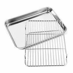 Baking Sheet With Rack Set Toaster Oven Tray Pan Nonstick St