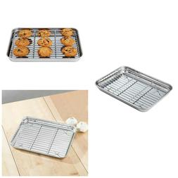 Baking Tray With Rack Toaster Oven Pan Stainless Steel Cooki