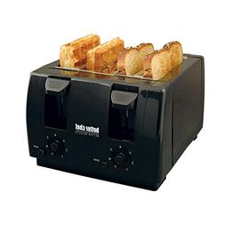 Better Chef 4 Slice Dual-Control Black Toaster - 1 Year Dire