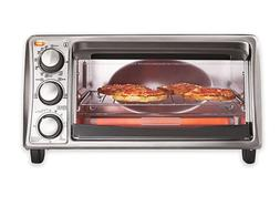 Black & Decker 4-Slice Toaster Oven in Grey TO1356SG