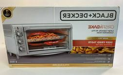 Black & Decker - 8-Slice Air Fryer Toaster Oven - Stainless