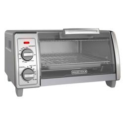 Black  Decker 4 Slice Silver Toaster Oven- Free Shiping