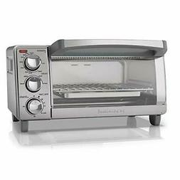 Stainless Steel 4 Slice Toaster Oven with Natural Convection