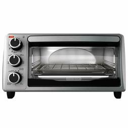 BLACK+DECKER TO1303SB 4-Slice Toaster Oven, Stainless Steel,