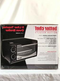 Brand New Better Chef 9 Liter Toaster Oven Broiler Black Sil