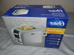 Oster BStainless Steel 2-Slice Toaster Retractable Cord Digi