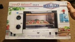 Americana classic toaster oven 4 slices  brand new