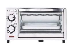 Continental Electrics 4-Slice Toaster Oven White