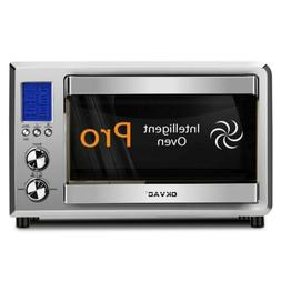 Convection Toaster Oven Stainless Steel Big LCD Display Coun