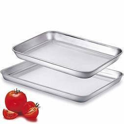 Cookie Sheets Toaster Oven Pans Small Stainless Steel Metal