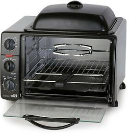 Countertop Toaster Oven With Top Grill and Rotisserie Chicke